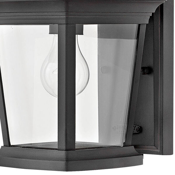 Bromley Museum Black 8-Inch One-Light Outdoor Mini Wall Mount, image 2