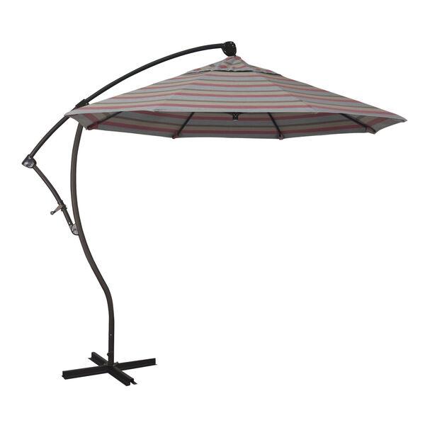 Bayside Bronze with Gateway Blush Nine-Feet Sunbrella Patio Umbrella, image 1