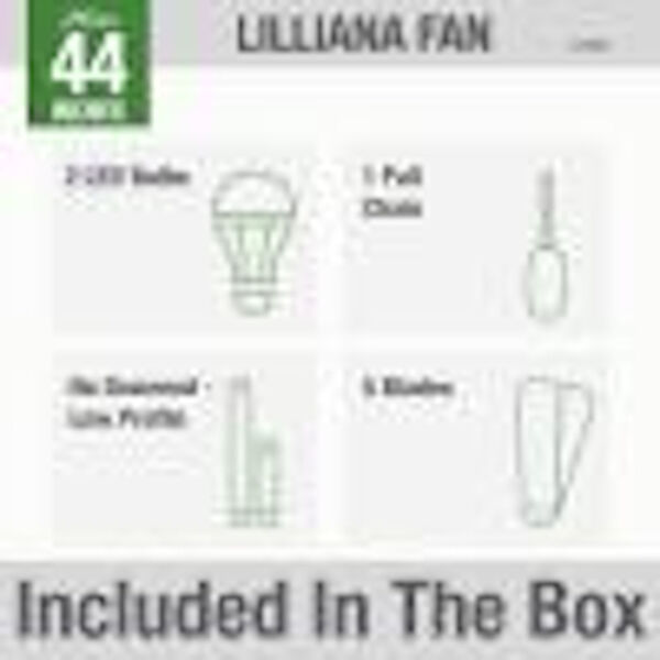 Lilliana Brushed Nickel 44-Inch Two-Light LED Ceiling Fan, image 7