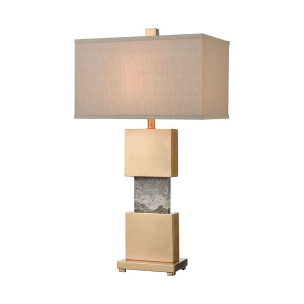 Aldern Cafe Bronze with Brown Stone One-Light Table Lamp, image 1