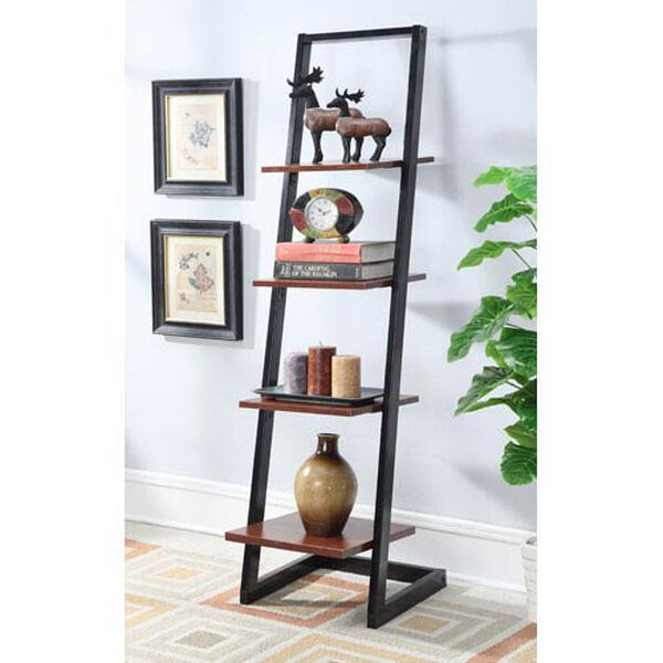 Designs2Go Black 4 Tier Ladder Bookcase, image 1