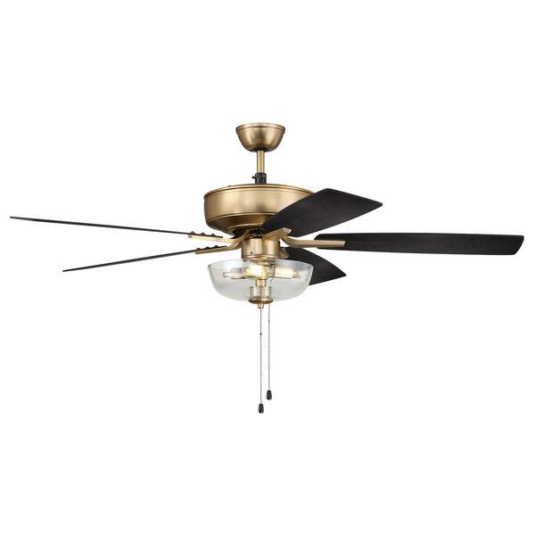 Pro Plus Satin Brass 52-Inch Two-Light Ceiling Fan, image 3