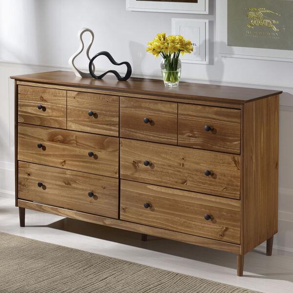 Caramel Six Drawer Dresser, image 1