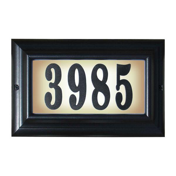 Edgewood Black Large Do It Yourself Kit Lighted Address Plaque, image 1