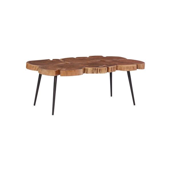 Aurelio Brown and Black Live Edge Large Coffee Table, image 4