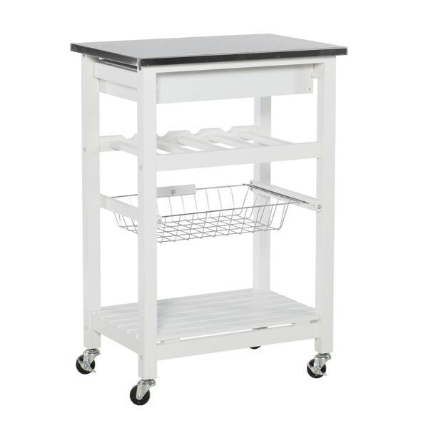 Autumn White Kitchen Cart, image 4