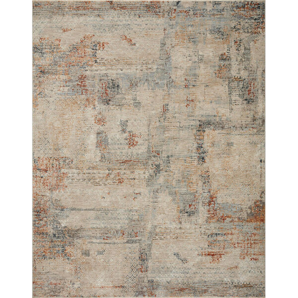 Axel Sand, Spice and Blue Area Rug, image 1