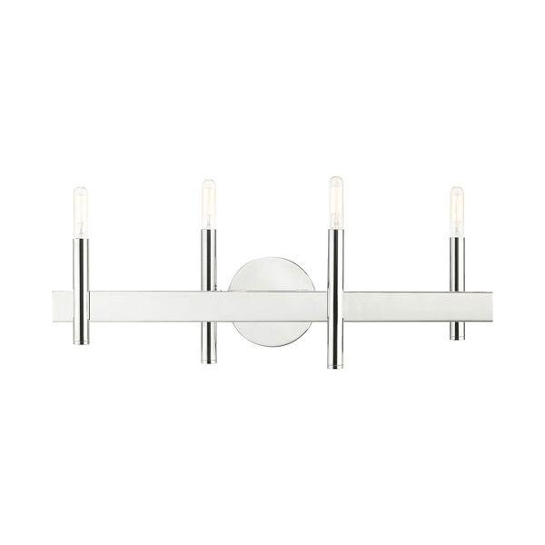 Denmark Polished Chrome Four-Light Bath Vanity, image 1