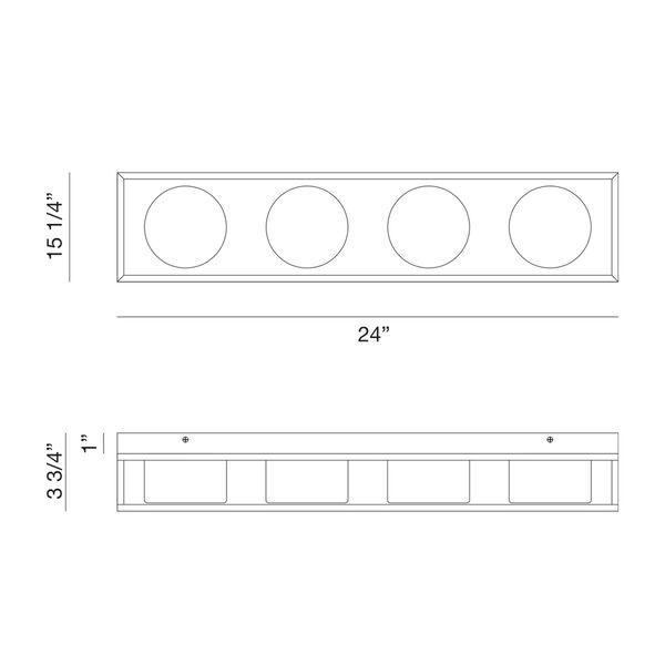 Rover Black 24-Inch Integrated LED Bath Vanity, image 6