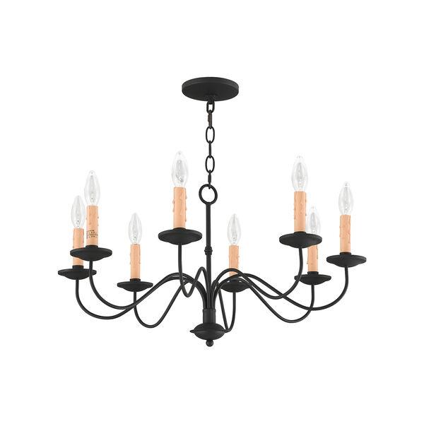 Heritage Black Eight-Light Chandelier, image 2