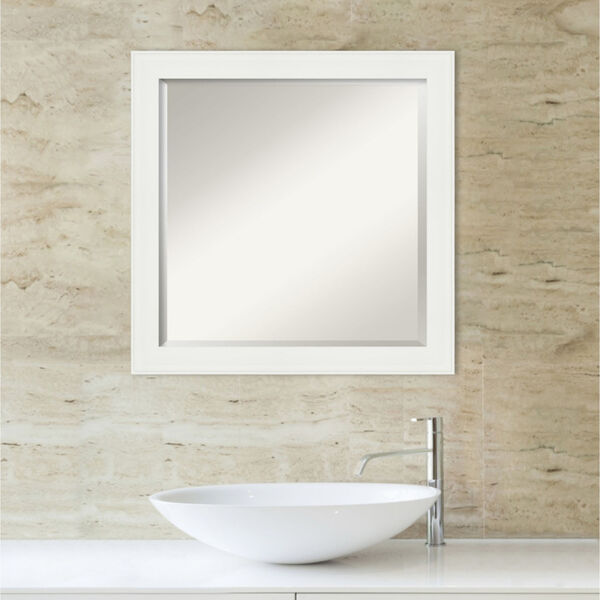 White 23W X 23H-Inch Bathroom Vanity Wall Mirror, image 5