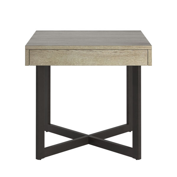 Hunter White End Table with One Drawer, image 1
