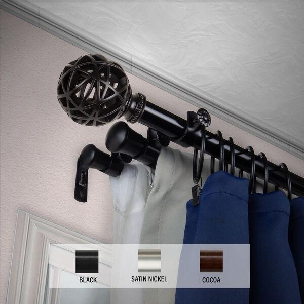 Leanette Black 170-Inch Triple Curtain Rod, image 2