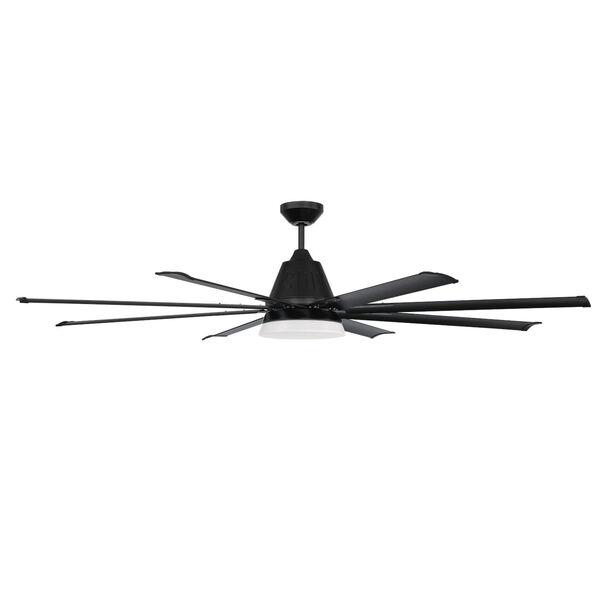 Wingtip Flat Black 72-Inch Ceiling Fan, image 1