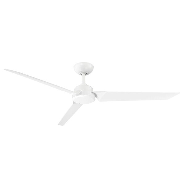 Roboto Matte White 62-Inch Downrod Ceiling Fans, image 1