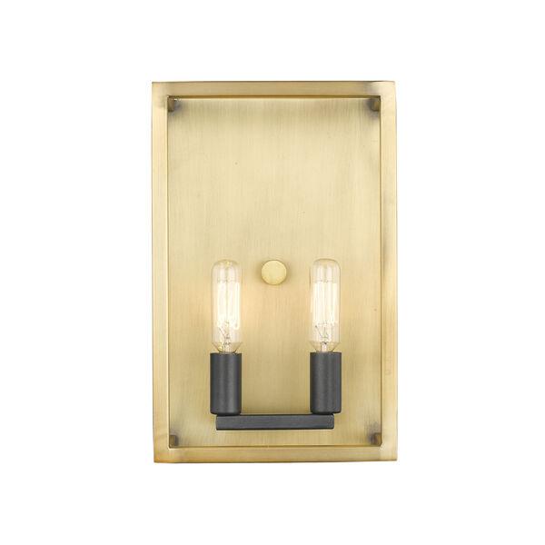 Quadra Olde Brass and Bronze Two-Light Bath Vanity, image 2