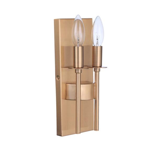 Larrson Satin Brass Two-Light Wall Sconce, image 2