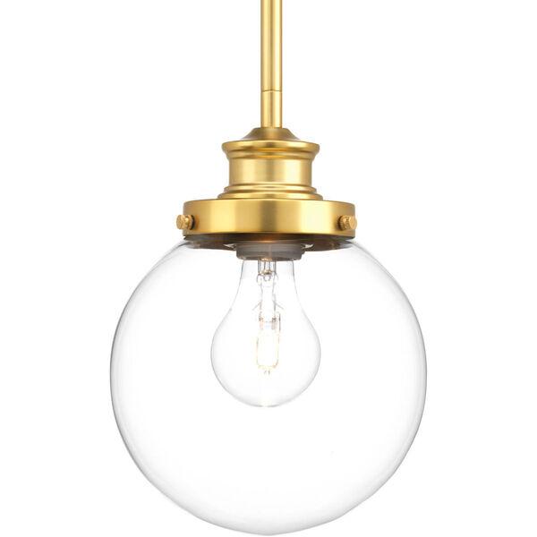 Isles Natural Brass 7-Inch One-Light Globe Mini Pendant, image 1
