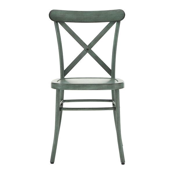 Roman Green Metal Dining Chair, image 2
