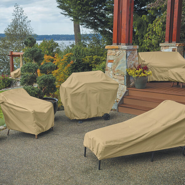 Palm Sand Patio Chaise Lounge Chair Cover, Set of 2, image 3