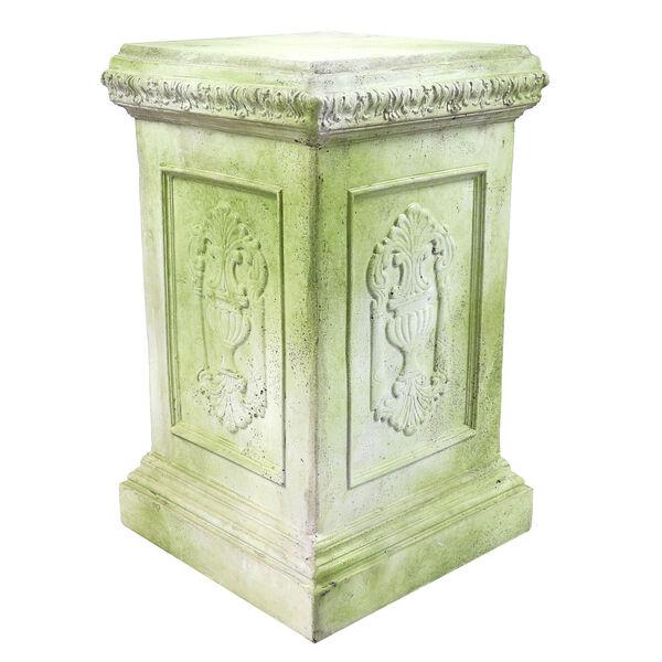 White Moss Fiberstone Grif Pedestal, image 1