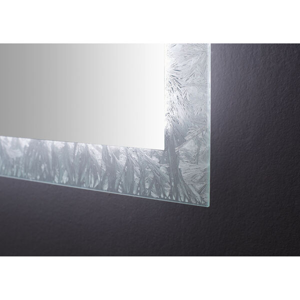 Frysta White 30 x 40 Inch LED Frameless Rectangualar Mirror with Dimmer and Defogger, image 5