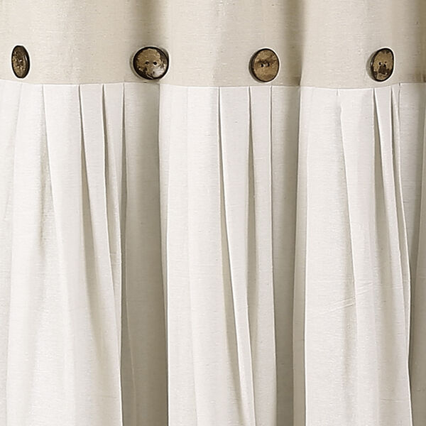 Linen Button 72 In. Shower Curtain, image 2
