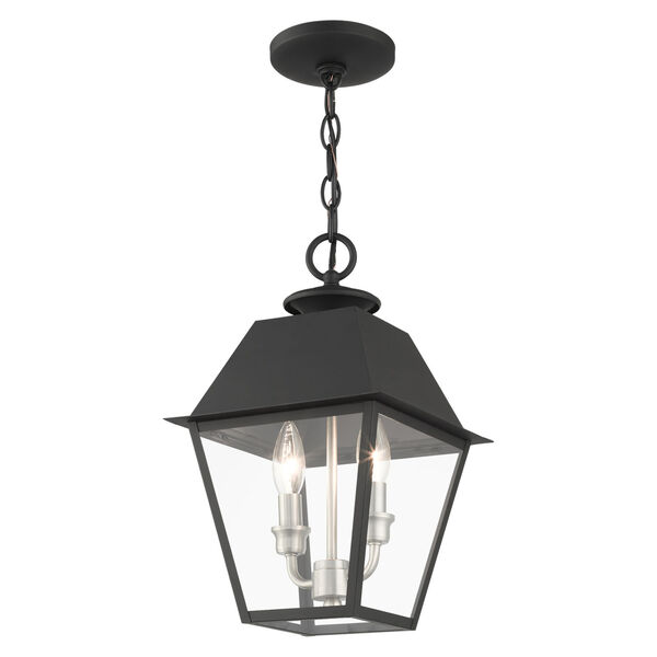 Mansfield Black Two-Light Outdoor Pendant, image 4