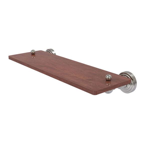 Waverly Place Satin Nickel 16-Inch Solid IPE Ironwood Shelf, image 1