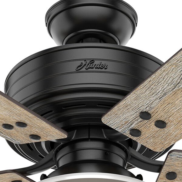 Cedar Key Matte Black 52-Inch One-Light LED Adjustable Ceiling Fan, image 5