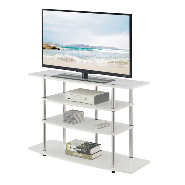 Design2Go White 42-Inch TV Stand, image 3