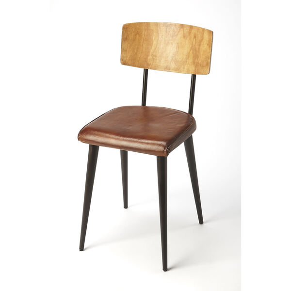Brown 32-Inch Side Chair, image 1