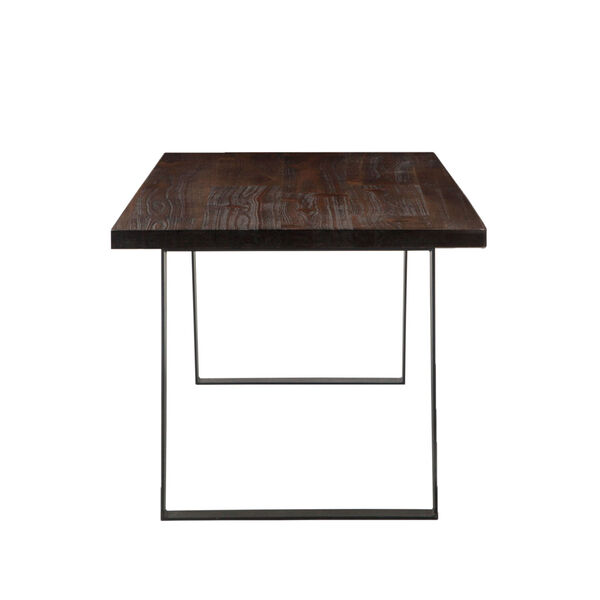 Bruges Dark Brown and Antique Zinc 78-Inch Acacia Wood Dining Table, image 3