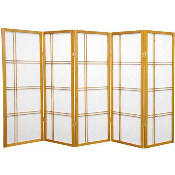 Four Ft. Tall Double Cross Shoji Screen, Width - 86.25 Inches, image 1