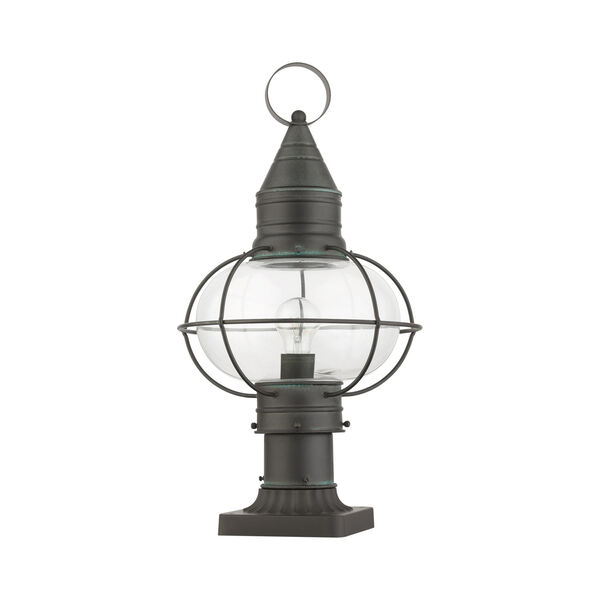 Newburyport Charcoal 11-Inch One-Light Outdoor Post Lantern, image 2