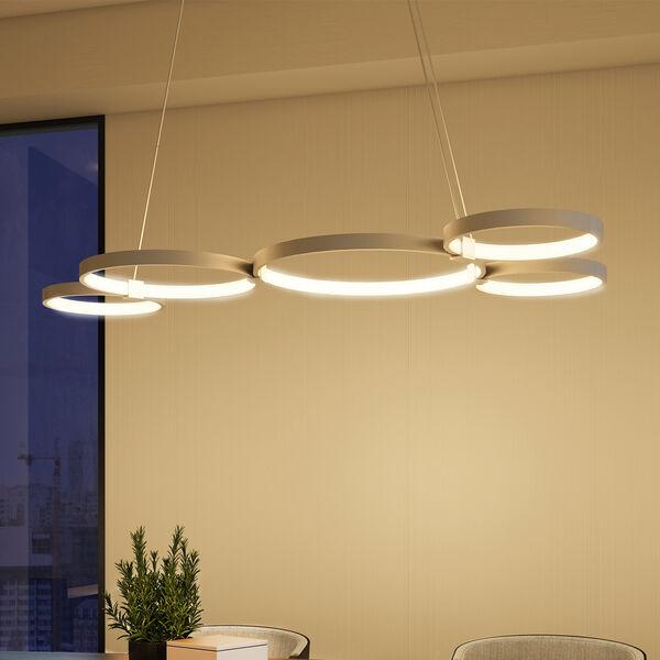 Capella Silver 31-Inch LED Adjustable Chandelier, image 4