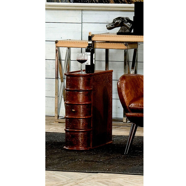 Leather Book Side Table, image 2