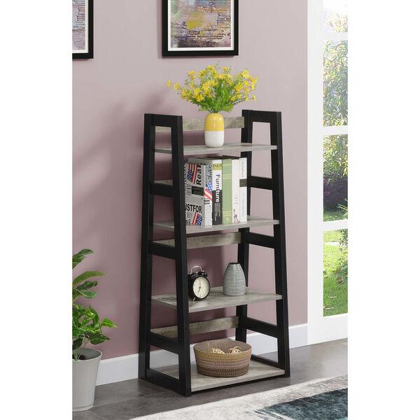 Designs2Go Faux Birch Black Trestle Bookcase, image 2