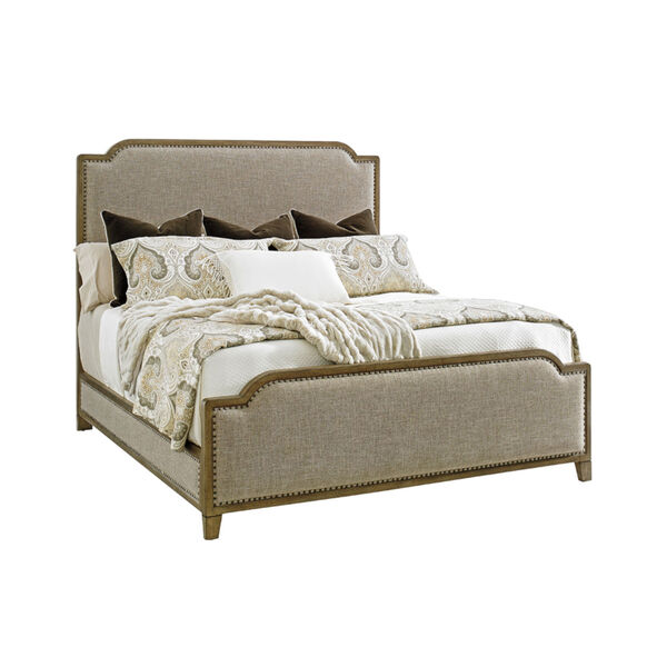 Cypress Point Gray Stone Harbour Upholstered Bed, image 1