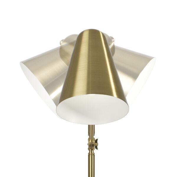 Archer Satin Brass LED Floor Lamp, image 4