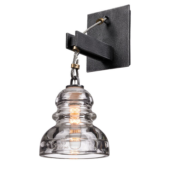 Old Silver Menlo Park One-Light Wall Mount, image 1