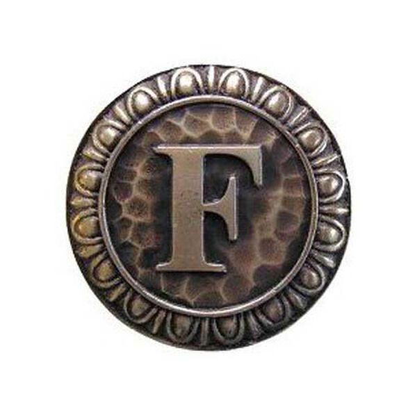 Antique Brass 'F' Knob , image 1