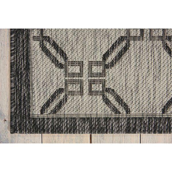 Garden Party Ivory and Charcoal Rectangular: 3 Ft. 6 In. x 5 Ft. 6 In. Indoor/Outdoor Rug, image 4
