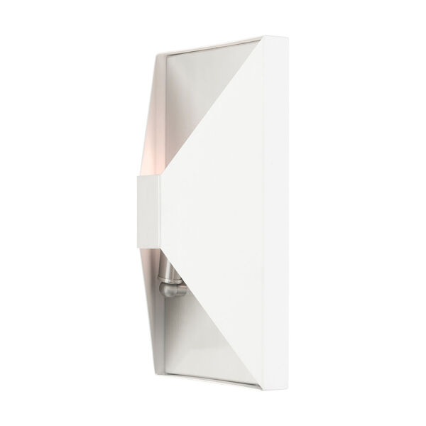 Lexford Textured White Two-Light ADA Wall Sconce, image 5
