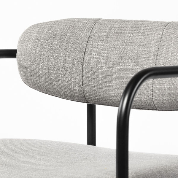 Parker Gray and Black Bar Height Stool, image 6