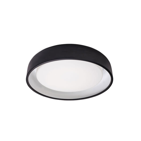 Beacon Black 20-Inch One-Light LED Flush Mount, image 1