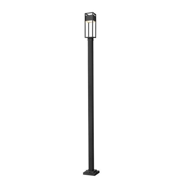 Barwick Black 114-Inch One-Light LED Outdoor Post Mount, image 1