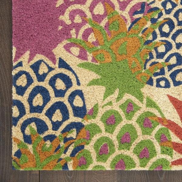 Wav17 Greetings Multicolor Rectangle Door Mat, image 4