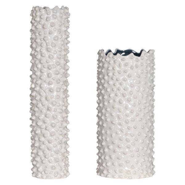 Ciji White Vases, Set of 2, image 1