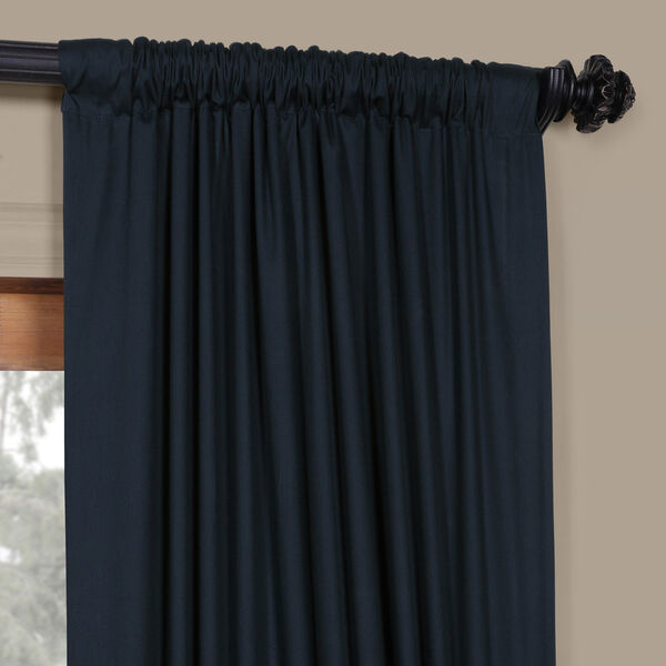 Polo Navy 50 x 84-Inch Solid Cotton Blackout  Curtain, image 8